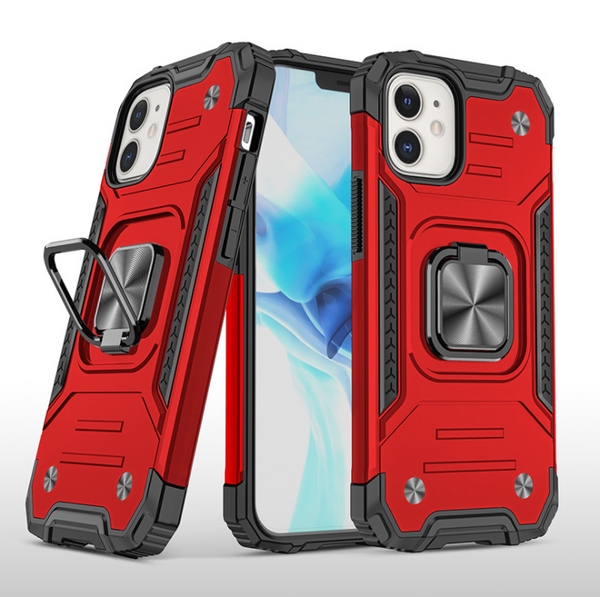 iPhone 12 / 12 Pro Phone Case Hard Armor Ring Holder Cover