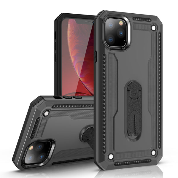 iPhone 11 Layered Protective Case with Air Vent Holder and Kickstand
