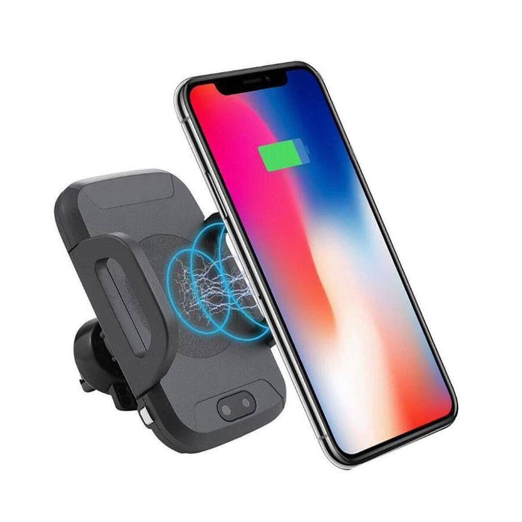 Wireless Charger Car Mount with Sensor Auto-Clamp and QC 3.0 Adapter