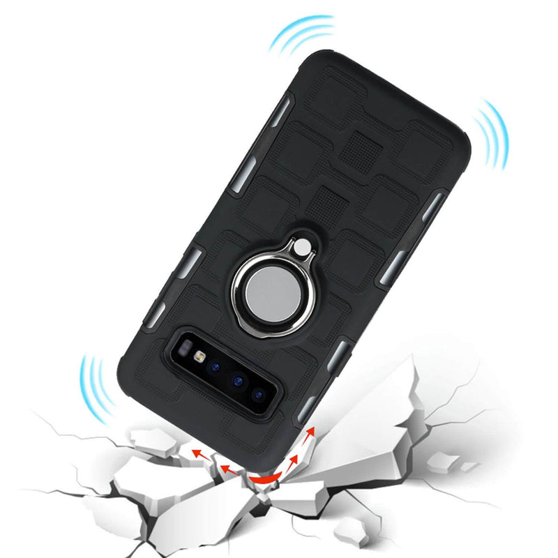 Samsung Galaxy S10 Plus Holster Case with Magnetic Metal Ring - Gorilla Gadgets