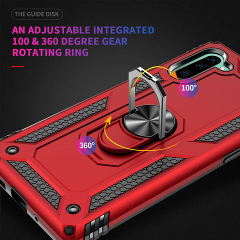 Samsung Galaxy Note 10 Heavy Duty Case with Magnetic Metal Ring - Gorilla Gadgets