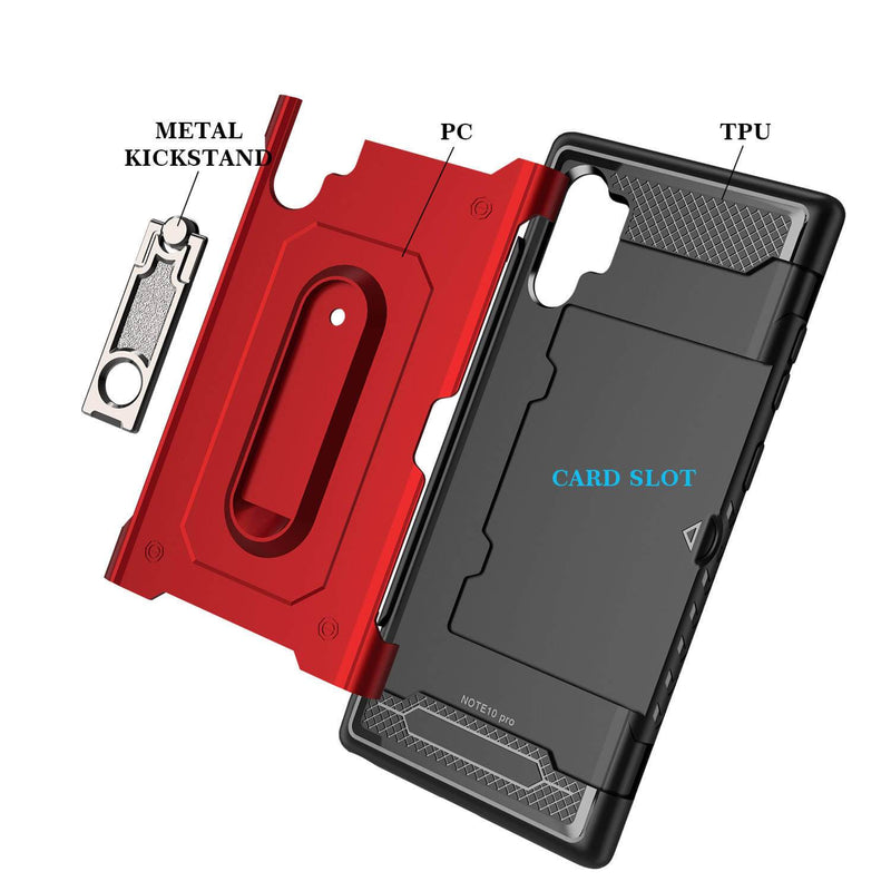 Samsung Galaxy Note 10 Armor Case with Card Slot and Kickstand - Gorilla Gadgets