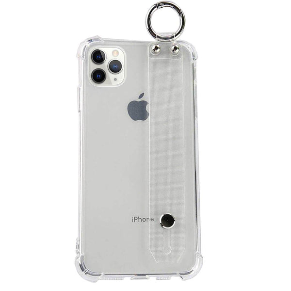 iPhone 11 Pro Max Clear TPU Case with Hand Strap