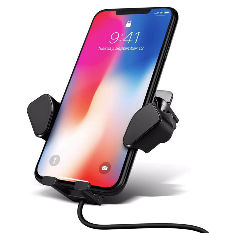 Adjustable Wireless Car Charger with Air Vent Holder - Gorilla Gadgets