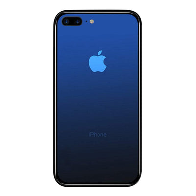 iPhone 7 / 8 Plus Color Gradient TPU Case with Tempered Glass Back - Blue - Gorilla Gadgets