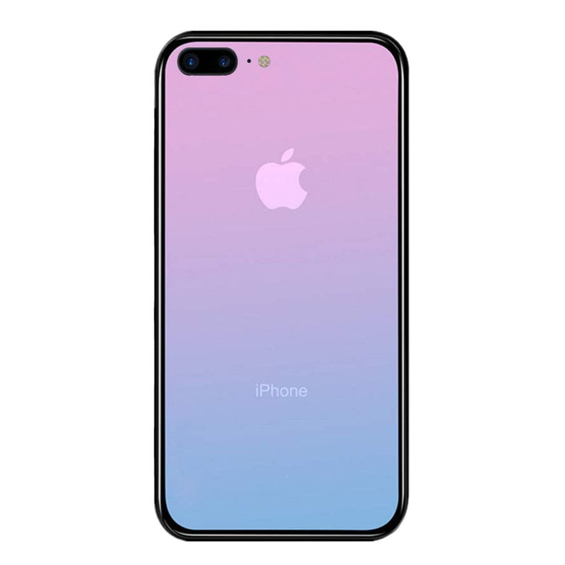 iPhone 7 / 8 Plus Color Gradient TPU Case with Tempered Glass Back - Galaxy - Gorilla Gadgets