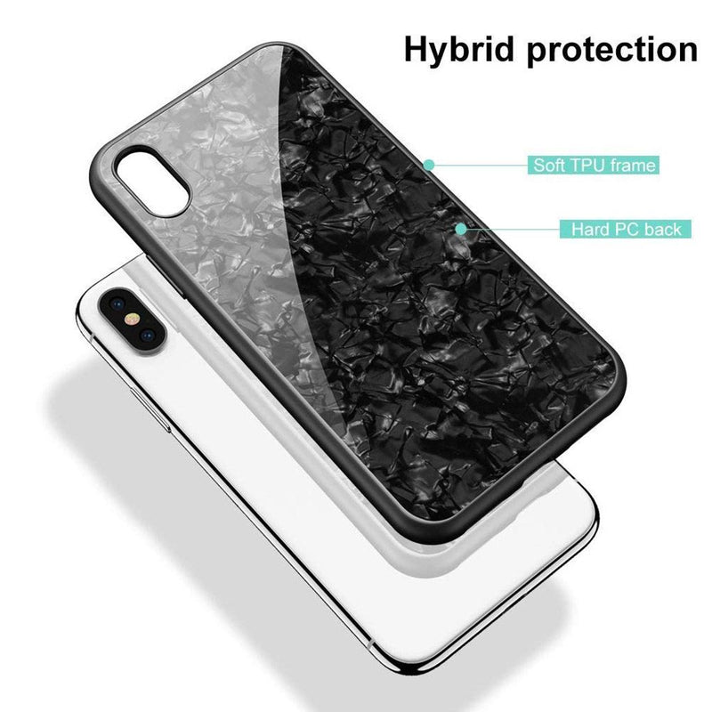 iPhone XR Marble Pattern 9H Tempered Glass Case - Gorilla Gadgets
