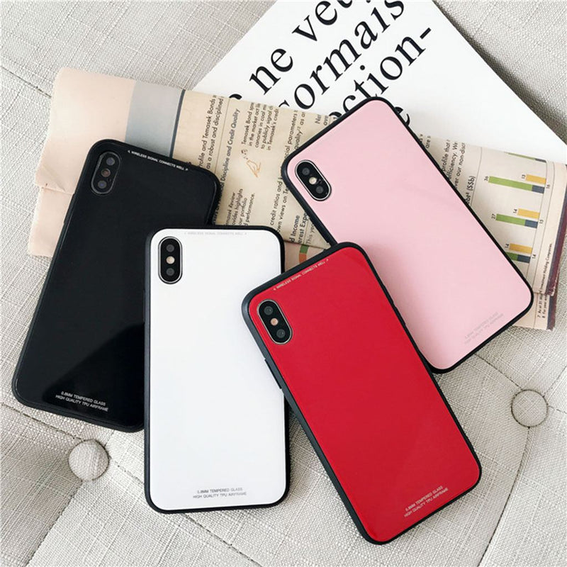 iPhone XR Slim TPU Fashion Case with 9H Tempered Glass Back - Multiple Colors - Gorilla Gadgets