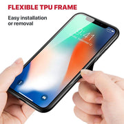 iPhone XR Slim TPU Fashion Case with 9H Tempered Glass Back - Flexible TPU Frame - Gorilla Gadgets