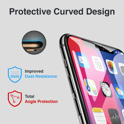 iPhone Xs / X Full Coverage Tempered Glass Screen Protector (Clear) - Gorilla Gadgets