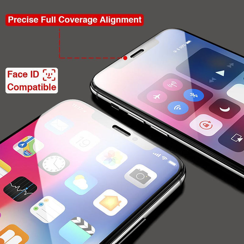2-Pack iPhone Xs Max Full Coverage Tempered Glass Screen Protector (Clear) - Gorilla Gadgets