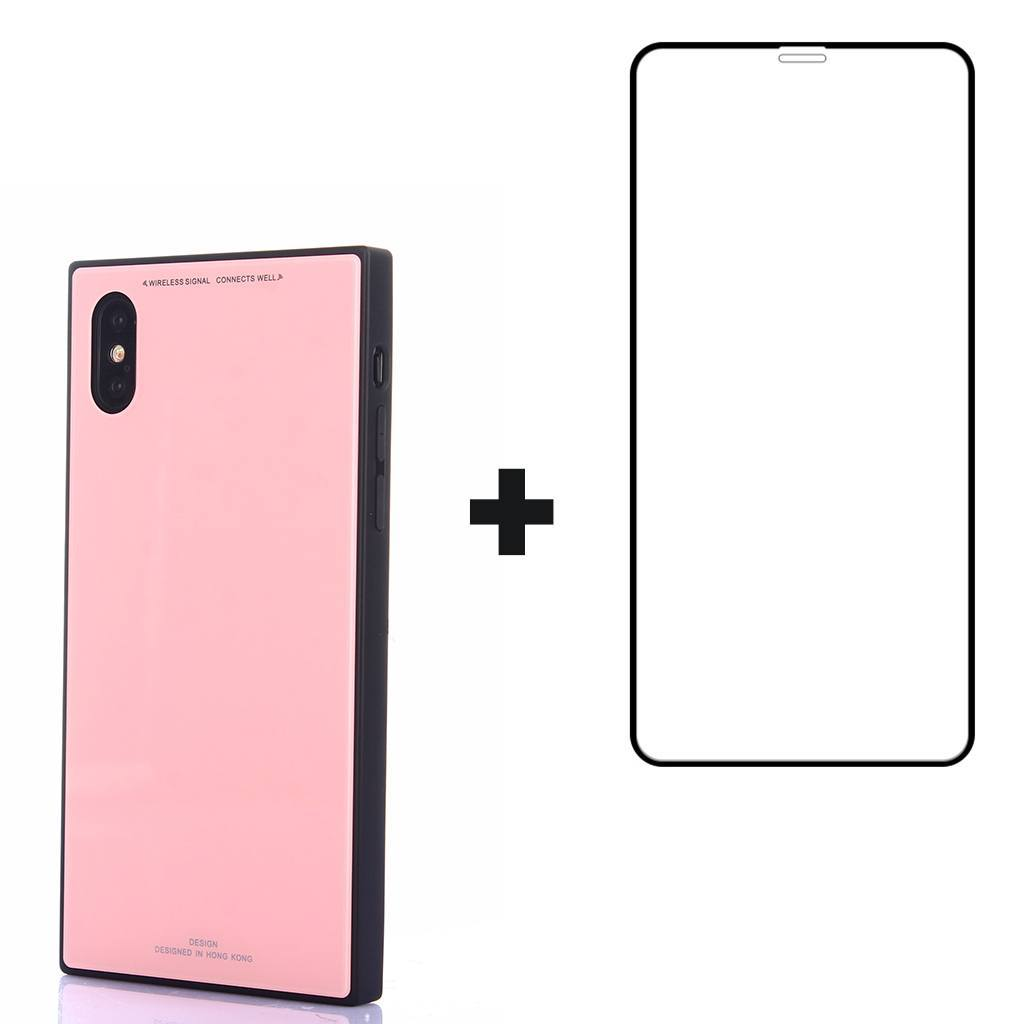 iPhone Xs / X Elegant Square Case with Full Coverage Screen Protector