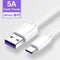 10 feet Type C and USB Cable 5A Super Charging USB Cable