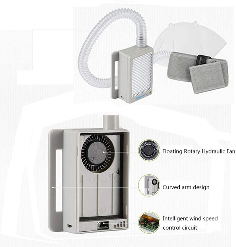 Portable Personal Air Purifier with Rechargeable Air Circulation System for Outdoor Activities, Construction, and Sports