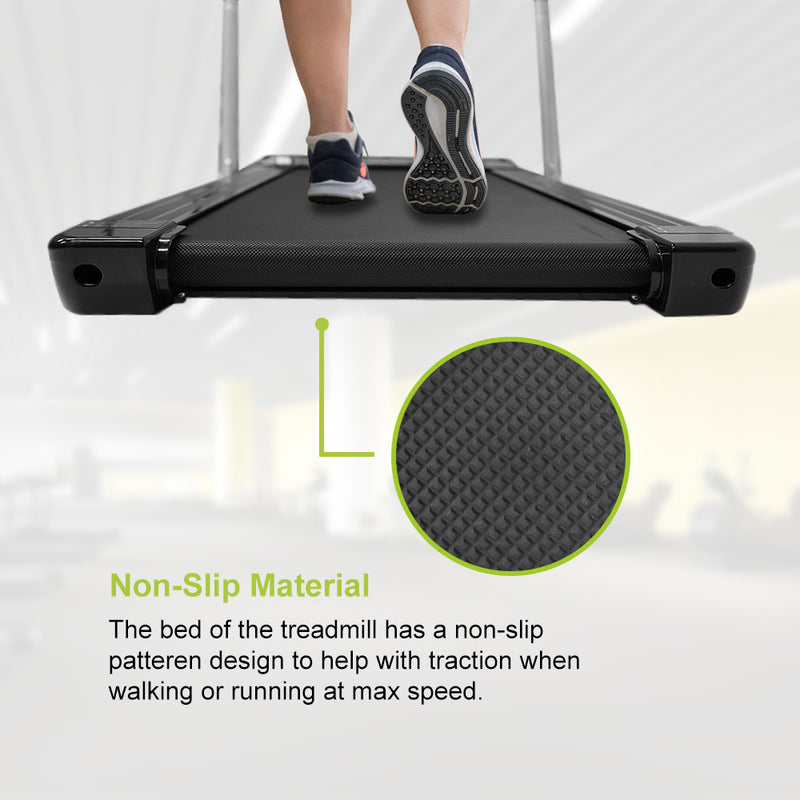 Portable Fitness Treadmill With Foldable Handlebar, Remote Control, LED Display & Bluetooth Speaker