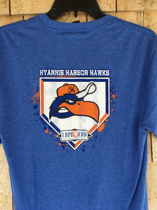 NEW -Hyannis Harbor Hawks Home Plate Blue L/S Tee