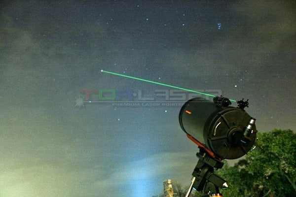 Using the Laser Pointer with Telescope for Astronomy