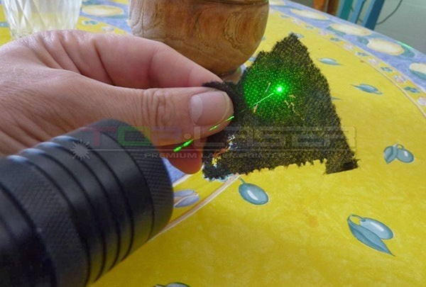 Burning Laser Pointer Plastic Bags