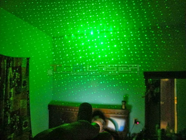Kaleidoscope effect of a laser pointer