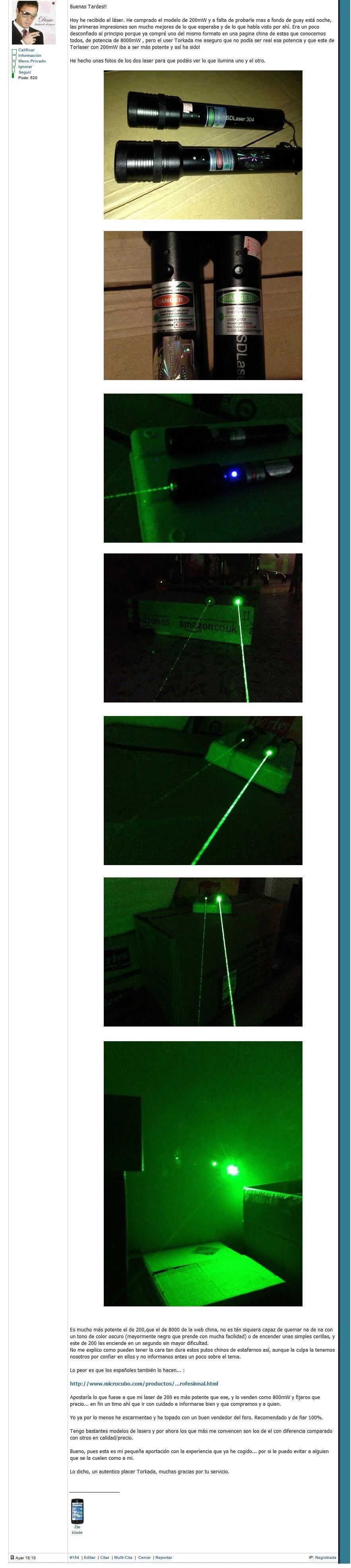 Laser Pointer differences between real power and false power