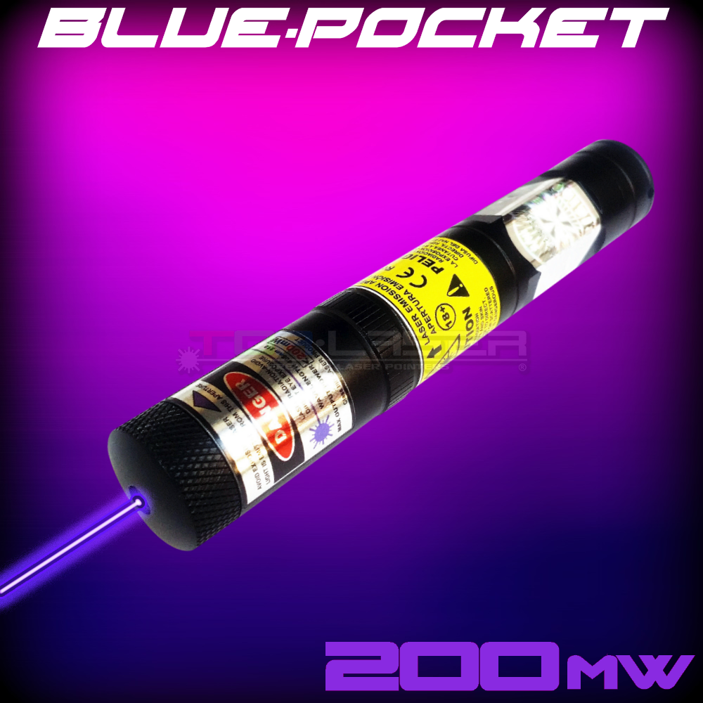 BluePocket - 200mW Violet Laser Pointer ta TorLaser