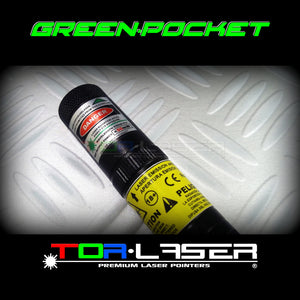 GreenPocket - 50mW Green Laser Pointer by TorLaser
