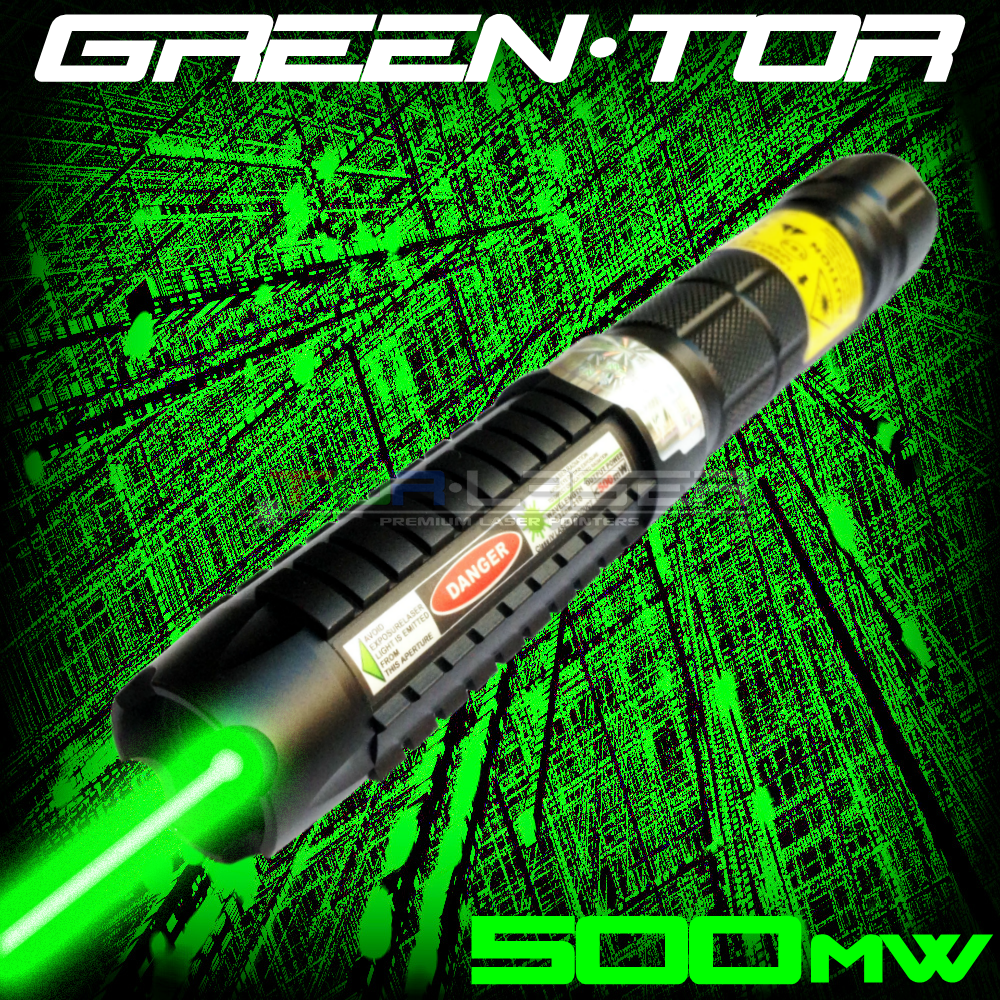 GreenTor - 500mW Green Laser Pointer na TorLaser