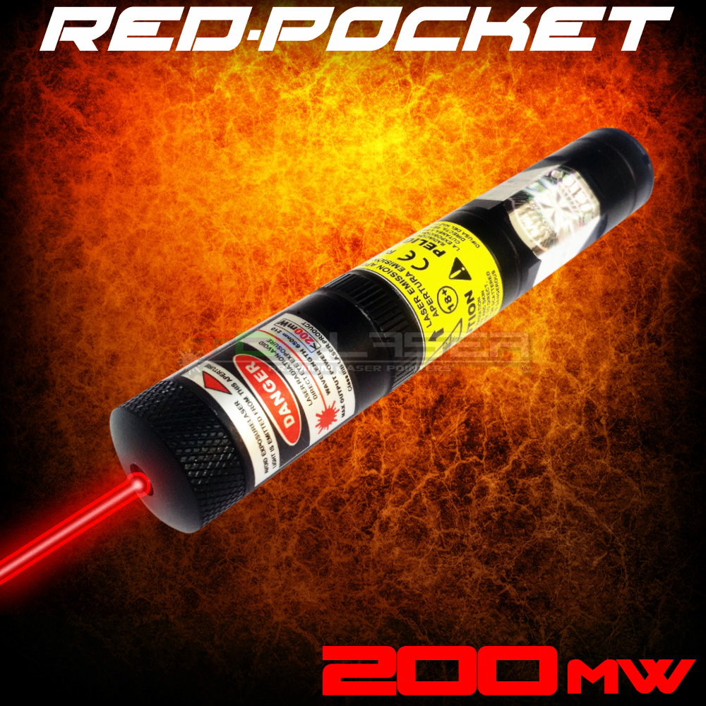 RedPocket - 200mW Red Laser Pointer ta TorLaser