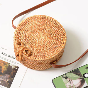 Summer Bag - Rattan Bag - Shoulder Bag - Beach Bag - Crossbody BagSummer Bag - Rattan Bag - Shoulder Bag - Beach Bag - Crossbody Bag - Straw Bag - Bali Bag - Round Straw Bag - Woven Rattan Bag - Woven Bag - Hand-woven Bag Single Shoulder - Pateleven