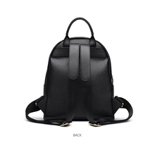 Load image into Gallery viewer, Black leather rucksack, Black leather backpack, Cow Backpack Genuine Leather - Ladies Rucksacks - Soft backpack - Small backpack - School bag - Pateleven
