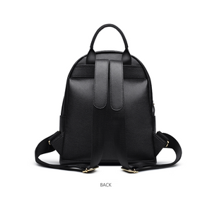 Black leather rucksack, Black leather backpack, Cow Backpack Genuine Leather - Ladies Rucksacks - Soft backpack - Small backpack - School bag - Pateleven