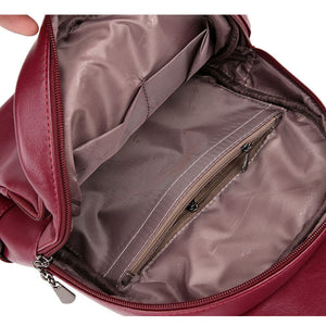 Leather Backpack - Sophia