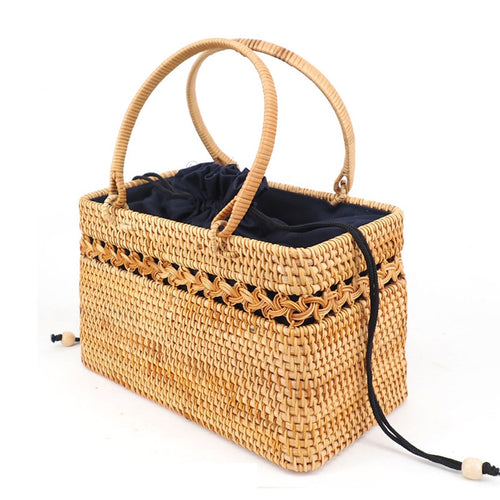 Rattan Bag - Straw Bag - Bali Bag - Handbag - Handbags - Vintage Straw Bag - Vintage Bag - Top handle Bag - Woven Rattan Bag - Woven Bag