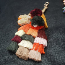 Load image into Gallery viewer, Keychain - Rosoda Tassel Bag Charm
