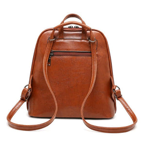 Leather Backpack - Camila