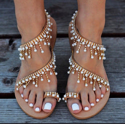 Women's Beaded Gladiator Sandals