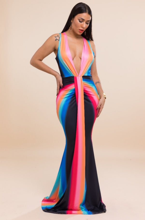 Women's Sleeveless Bodycon Maxi Dress