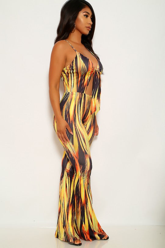 Women's Smokey Yellow Sleeveless Jumpsuit