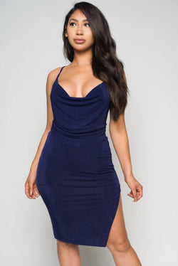 Women's Stylish Navy Top and Skirt Set