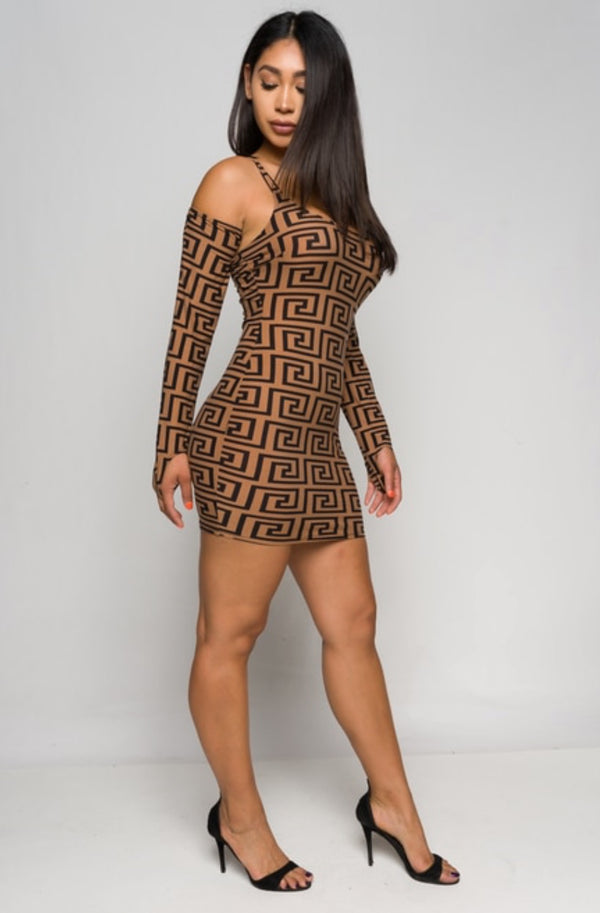 Junior's Spaghetti Strap Bodycon Mini Dress
