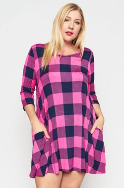 Women's Plaid Print Fashion Dress