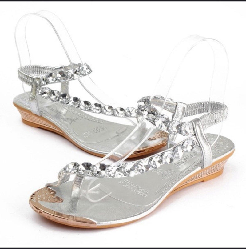 Women's Rhinestone Gladiator Sandals