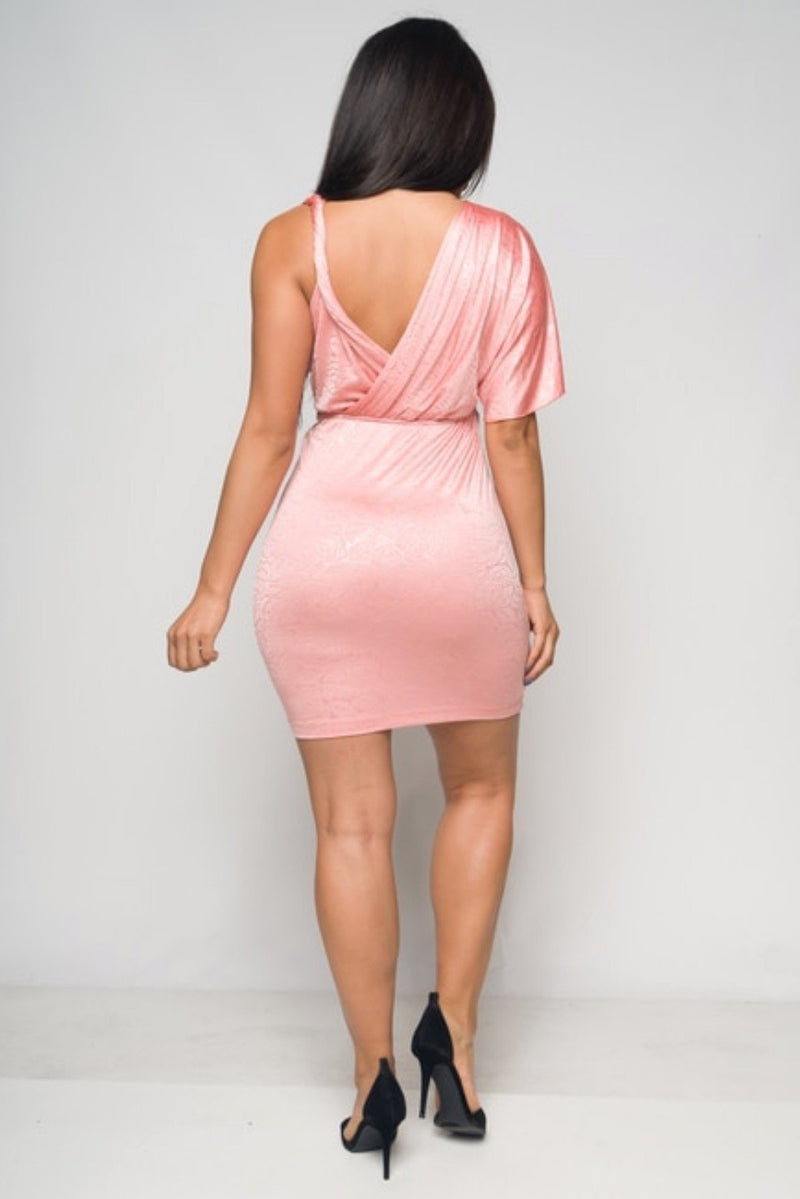 Women's V-Neck Wrap Mini Dress