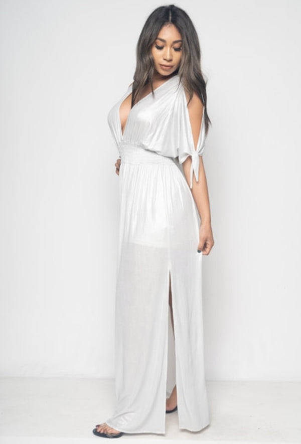 Women's Open Shoulder Maxi Dress