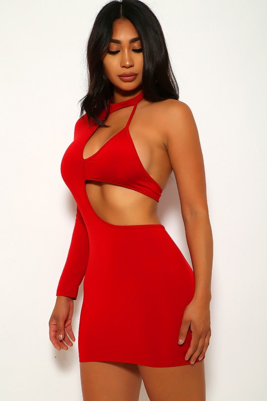 Women's Cut Out One Shoulder Bodycon Dress