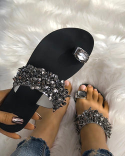 Women's Crystal Toe-Wrap Sandals