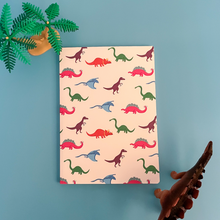 Load image into Gallery viewer, Dinosaur Pattern Notebook Slightly Marked