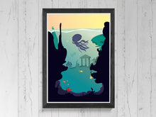 Load image into Gallery viewer, Underwater Jungle Print.