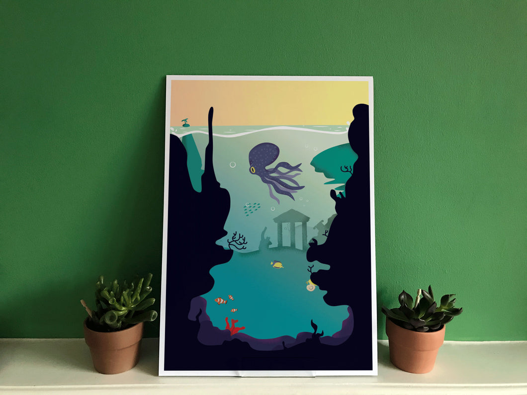 Underwater Jungle Print.