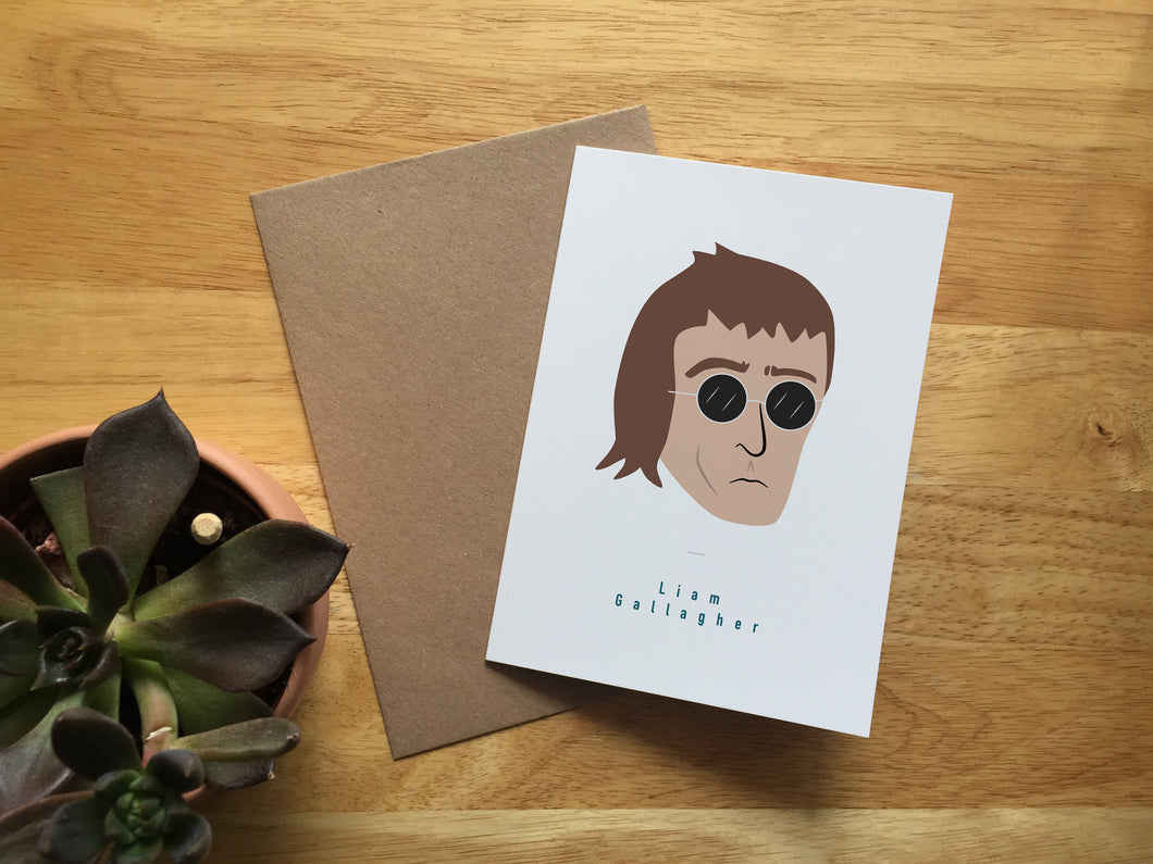 Liam Gallagher - Greeting Card